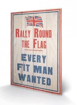 Poster su legno IWM - rally round the flag