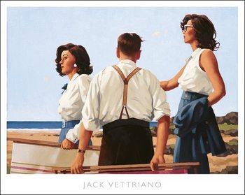 Jack Vettriano - Young Hearts Festmény reprodukció