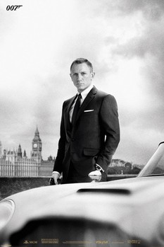 JAMES BOND 007 - skyfall / bond & DB5 - плакат (poster)