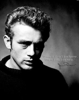 JAMES DEAN - Live Forever Metalplanche