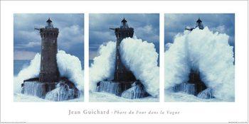 Jean Guichard - Phare Du Four, Bretagne Triptych Festmény reprodukció