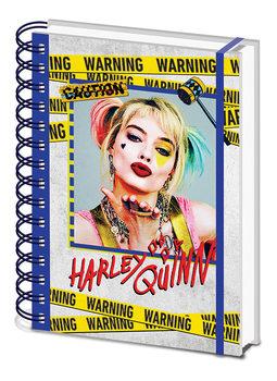 Jegyzetfüzet Ragadozó madarak: és egy bizonyos Harley Quinn csodasztikus felszabadulása - Harley Quinn Warning