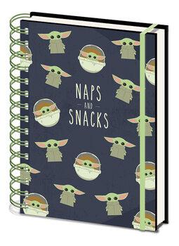 Jegyzetfüzet Star Wars: The Mandalorian - Snacks and Naps