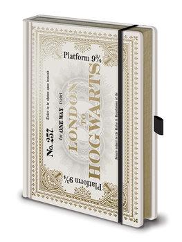 Jegyzetfüzet Harry Potter - Hogwarts Express Ticket Premium