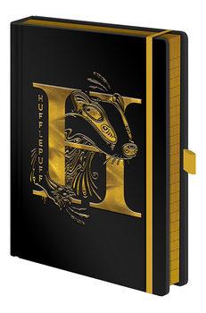 Harry Potter - Hufflepuff Foil Jegyzetfüzet