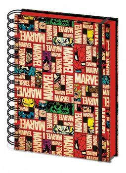 Marvel - Block Logo) A5 notebook   jegyzetfüzet