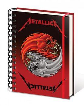 Metallica - Yin & Yang Skulls A5 Wiro Notebook jegyzetfüzet