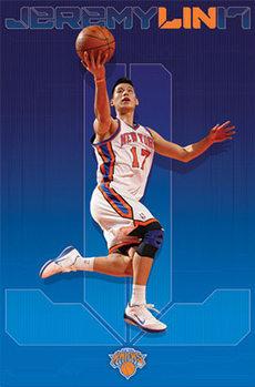 Jeremy Lin - new york knicks плакат