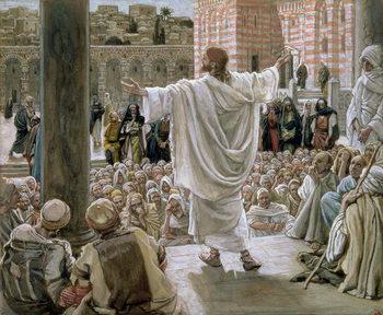 'Jerusalem, Jerusalem', illustration for 'The Life of Christ', c.1886-96 Festmény reprodukció