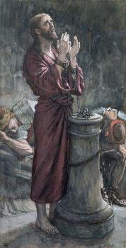 Εκτύπωση έργου τέχνης  Jesus in Prison, illustration for 'The Life of Christ', c.1884-96