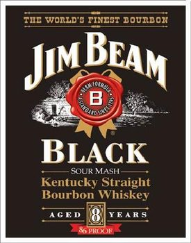 JIM BEAM - Black Label Metalplanche