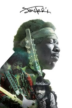 Jimi Hendrix - Double Exposure - плакат (poster)