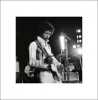 Jimi Hendrix - Live Festmény reprodukció