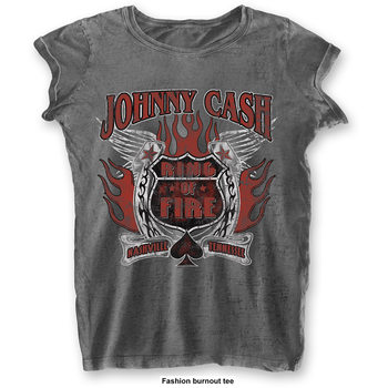 T-Shirt  Johnny Cash - Ring Of Fire Ladies