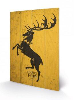 Art en tabla Juego de Tronos - Game of Thrones - Baratheon