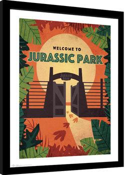 Πλαισιωμένη αφίσα Jurassic Park - Welcome