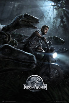 Jurassic World - Raptors One Sheet - плакат (poster)