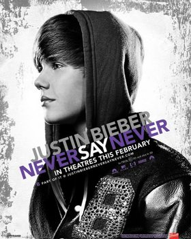 Justin Bieber - never say never - плакат (poster)
