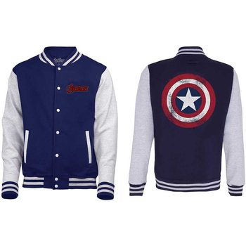 Avengers - Assemble Distressed Shield Varsity Kabát