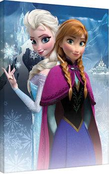 Plagát Canvas Ľadové kráľovstvo - Anna & Elsa