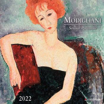 Kalendár 2022 Amedeo Modigliani - Sensual Portraits