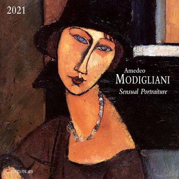 Kalendár 2021 Amedeo Modigliani - Sensual Portraits