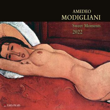 Kalendár 2022 Amedeo Modigliani - Sweet Moments