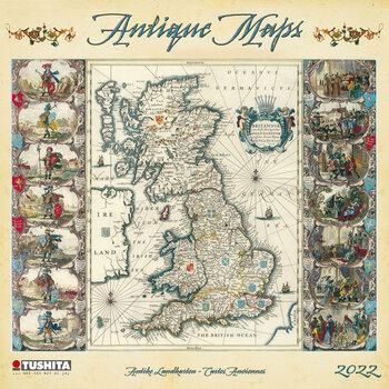 Kalendár 2022 Antique Maps