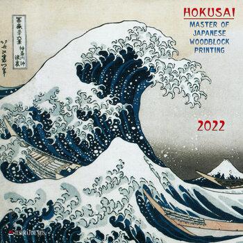 Kalendár 2022 Hokusai - Japanese Woodblock Printing