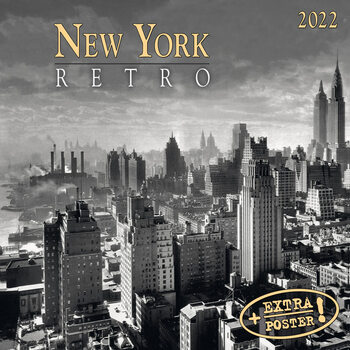 Kalendár 2022 New York Retro