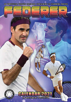 Kalendář 2021 Roger Federer
