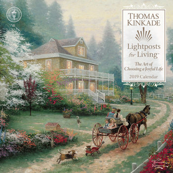 Kalendář 2021 Thomas Kinkade - Lightposts for Living