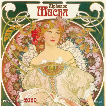 Kalendář 2020  A. Mucha - Poster Art