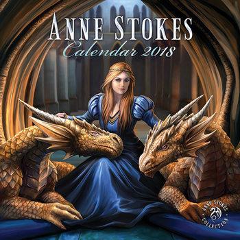 Kalendár 2018 Anne Stokes