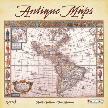 Kalendár 2018 Antique Maps