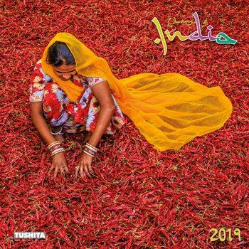 Kalendář 2019  Barvy Indie