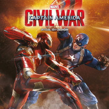 Kalendář 2017 Captain America: Občanská válka