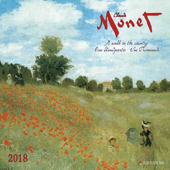 Kalendár 2018  Claude Monet - A Walk in the Country