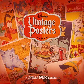 Kalendář 2022 Disney - Vintage Posters