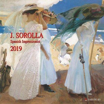 Kalendář 2019  Joaquin Sorolla - Spanisch Impressionist