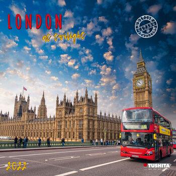 Kalendář 2022 Londýn za soumraku