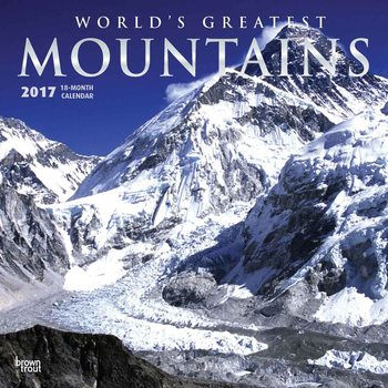 Kalendár 2017 Mountains - Worlds Greatest