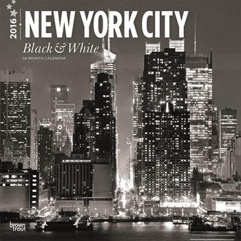 Kalendár 2021 New York - Black & White
