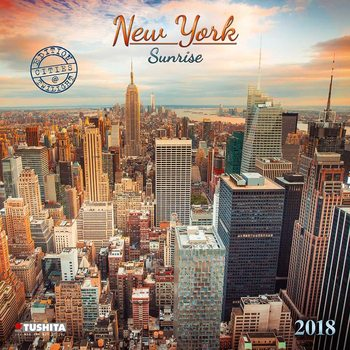 Kalendár 2018 New York Sunrise