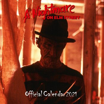 Kalendár 2021 Nočná můra v Elm street - Freddy Krueger