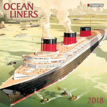 Kalendár 2018 Ocean liners