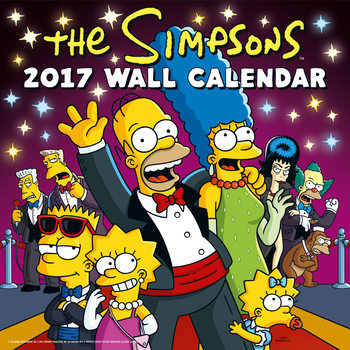 Kalendář 2017 Simpsonovi