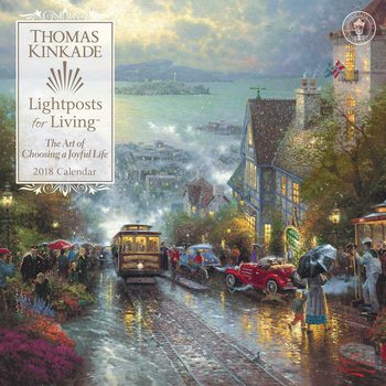 Kalendár 2018 Thomas Kinkade - Lightposts for Living