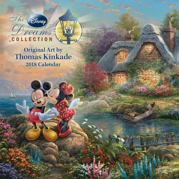 Kalendář 2018 Thomas Kinkade - The Disney Dreams Collection