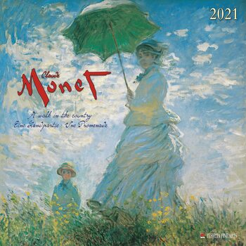 Claude Monet - A Walk in the Country Kalendarz 2021